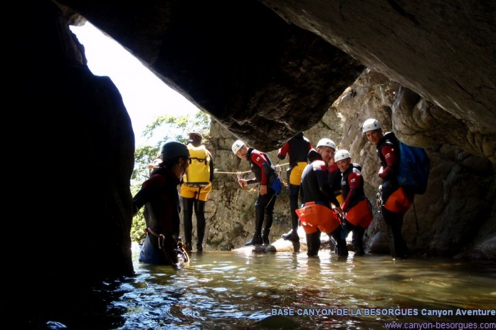 canyoning base de la besorgues
