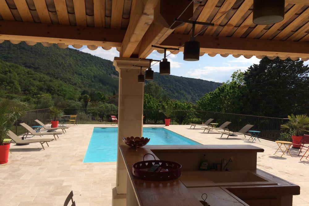 Chambres d 39 h tes de charme saint maurice d 39 ibie en sud - Chambre d hote piscine chauffee ...
